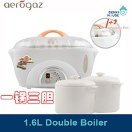 [Aerogaz]AZ-509DB/1.6L Double boiler /slow cooker/stew soup simmer tonics and more/healthy cooking