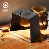 【限時93折起】悶蒸十五手工實木底座金屬手沖濾杯架(日式 咖啡 沖泡 金屬 木質 工業風)