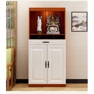 Ready stock-Buddhist altar standing statue cabinet for table cabinet with door Household God of Wealth consecrated Economical