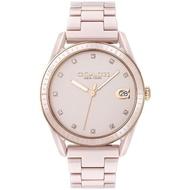 【COACH】優雅質感陶瓷晶鑽腕錶-36mm/粉(14503264)
