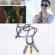 [現貨]BIGBANG GD BTS SUGA 同款金屬羽毛項鍊