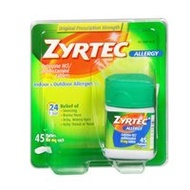 ▶$1 Shop Coupon◀  Zyrtec Zyrtec 24 Hour Allergy Relief, 45 tabs 10 mg(Pack of 3)