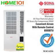 Sona Casement AirCon 8000BTU with Remote Control SCAC 6216