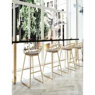 高腳椅吧台椅高腳凳靠牆高腳窄桌吧台現代簡約長條鐵藝家用實木吧台椅子ATF