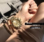 CARDI 女裝 正韓 流 滿鑽大錶 嘻哈 金項鍊 金項鏈 滿鑽 手錶 古巴鍊 銀項鍊 鑽錶 手鍊 非 勞力士 滿天星