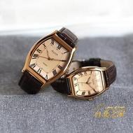 情人節禮物酒桶形男女石英錶復古錶夜光時尚情侶對錶