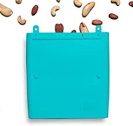 Luumi Unplastic Bag - Resuable 100% Platinum Silicone Collapsible Food Storage Bags for Lunch and Snacks - Microwave, Oven, Freezer and Dishwasher Safe (Teal)