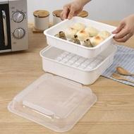 微波爐方形蒸籠加大號 塑料微波爐蒸鍋專用器皿飯盒 蒸米飯煲