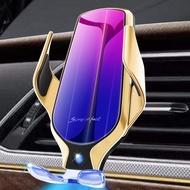 熱賣現貨 新品魔夾R9車載無線充 智能紅外感應車載手機支架無線充電器