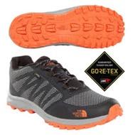 【美國 The North Face】男新款 Gore-Tex防水透氣耐磨低筒輕量登山鞋/3FX4 黑橘 N