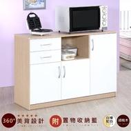 【Hopma】三門二抽五格廚房櫃/收納櫃/櫥櫃(二色可選)