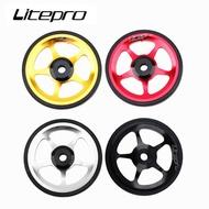 Litepro Folding Bike Easy Wheel For Brompton 3Sixty Pikes Aluminum Alloy CNC