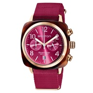 【BRISTON】CLUBMASTER 經典雙眼計時腕錶-莓果紅(19140.PRAT.28.NBER)