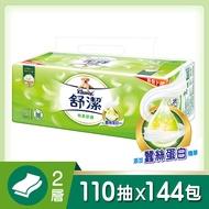 舒潔 棉柔舒適抽取衛生紙 (110抽x12包x6串x2箱,共144包)