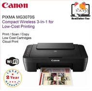 Canon PIXMA MG3070S All-In-One Printer ( PRINT / SCAN / COPY / Wireless ) mg2577s e410 e470 g2010 g3010 with PG745S & CL746S Ink