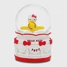 Hello Kitty 遊樂場飛機 水晶球音樂盒