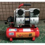 現貨 2.5HP 10L/2.5 20L 無油靜音空壓機 雙汽缸堅固耐用 打氣快速(附贈一個快速街頭)(免運費)