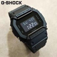 CASIO G-SHOCK DW-5600BB-1 經典個性數位電子錶/43mm/消光黑+黑色保護桿【第一鐘錶】