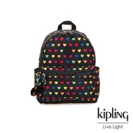 【KIPLING】繽紛愛心拉鍊後背包-BOUREE