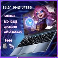 [ใหม่เอี่ยม]โน๊ตบุ๊คเล่น gta v คอม โน๊ตบุ๊คมือ1ถูกผลิตโดย ASUS Notebook AST Laptops computer โน๊ตบุ๊ค core i5 Notebook i7 Intel J4115/15.6 นิ้ว IPS LED/8G RAM/128G SSD/ Office Notebook สามารถตั้งค่าภาษาไทย