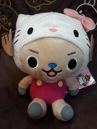 4165本通 板橋店 景品 ONE PIECE海賊王 Hello Kitty 喬巴 變裝坐姿造型 娃娃 絨毛玩偶 公仔