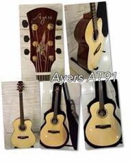 【名人樂器】Ayers AT91 雲杉 全單板 民謠吉他 可接受客訂
