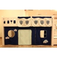 Children Play Curtain w/ Pockets for Bunk / Loft Bed - Police