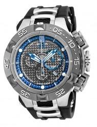 INVICTA龍五系列-紅點設計殊榮三眼計時腕錶(PU矽膠錶帶)