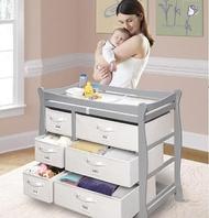 多功能尿布台 貝爵嬰兒尿布臺實木換尿布架嬰兒護理臺洗澡按摩臺送尿布墊安全帶 DF