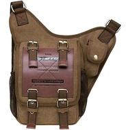 ขนาดเล็กผู้ชายผ้าใบกันน้ำกระเป๋าสะพายสไตล์ทหารกระเป๋าMessengerสำหรับผู้หญิงย้อนยุควินเทจสลิงถุงขาธุรกิจU Nisexกระเป๋าเดินทางเด็กกระเป๋าสาวC Rossbodyกระเป๋าสำหรับการทำงาน