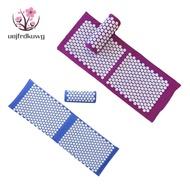 Large Spike Acupressure Mat and Pillow Yoga Massage Mat Purple