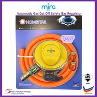 MIRA Gas Safety Regulator with 1.5 Meter (SIRIM Regulator) Mira Gas Regulator Set