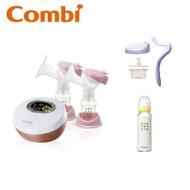Combi 日本康貝 自然吸韻雙邊電動吸乳器+手動配件組+奶瓶x1(隨機)