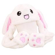 兔子帽 抖音兔帽子女夏季網紅同款可愛小兔子耳朵會動的帽子兔耳朵帽成人