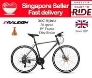 """[SG SELLER] [FULLY ASSEMBLED] [3MONTHS WARRANTY] Raleigh 30 speed 700C Hybrid Bicycle 19"""" Frame Bike"""