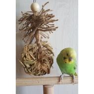 Billie 🐦🐤麻繩乾稻草編織鸚鵡玩具