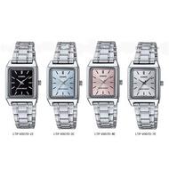นาฬิกา รุ่น LTP-V007D Casio สายสแตนเลส นาฬิกาข้อมือ สายเหล็ก รุ่น LTP-V007D-1Eด้ำLTP-V007D-2Eฟ้าLTP-V007D-4EชมพูLTP-V007E-7Eขาว(ของแท้100% ประกันศูนย์1 ปี)จากร้าน MIN WATCH