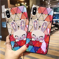 Soft Case for Samsung J8 J7 J6 J5 J4 J3 J2 Prime Pro 2018 2016 A9 A8 A7 A6 2018 A60 A50 a40 a40 A20 A10 J2core Colorful Epoxy rabbit Phone case