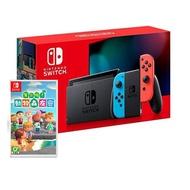 【預購】Nintendo Switch 主機 電光紅藍 (電池加強版)+Nintendo Switch 動物森友會 中文版