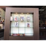 木製屏風式玻璃展示櫃 珠寶展示櫃 手機展示櫃 飾品櫃 精品櫃 化粧品櫃 鐘錶櫃 眼鏡櫃 公仔櫃A1421【晶選二手傢俱】