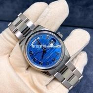 ROLEX 勞力士 賣場全系列商品支持商品出貨前給實拍視頻確認 星期日歷型藍盤水波紋白金機械男錶 118209