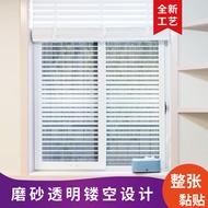 Glue-Free Transparent Jalousie Glass Film Sticker Office Sliding Door Window Sticker Home Balcony Electrostatic Sticker