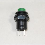 手電筒開關 綠色 自鎖 按鈕開關 圓形開關 開孔12mm