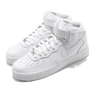 【NIKE 耐吉】休閒鞋 Air Force 1 Mid 運動 男鞋 經典款 皮革 質感 簡約 球鞋 穿搭 全白(CW2289-111)