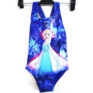 [陽光樂活](A3) SPEEDO 女童 休閒連身泳裝 冰雪奇緣 粉藍 - SD807970C784