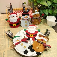 SG Christmas Home Party Table Cutlery Bags Tableware Knife Fork Holder Pocket