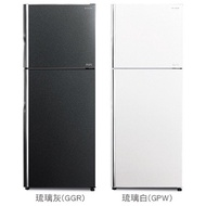 HITACHI日立403公升 琉璃面板雙門電冰箱 琉璃灰/琉璃白 RG409