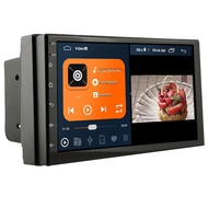 2din Android 10 วิทยุติดรถยนต์ 10 นิ้วเครื่องเล่นมัลติมีเดีย 2 din 7 นิ้วหน้าจอ 2G ROM Autoradio Player Universal Car Player ระบบนำทาง GPS สำหรับ Toyota Honda BENZ BMW