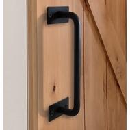 美式穀倉門把手 復古櫥櫃老式木門平開推拉門鐵藝門手把(22cm/30cm)