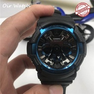 Original Casio_G Shock_GA-200 Fashion Men's Fully Automatic Sports Resin Watch Double Time Display Automatic Calendar+Date World Time Alarm Clock (Blue) GA-200/GA200